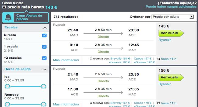 comparador de vuelos baratos