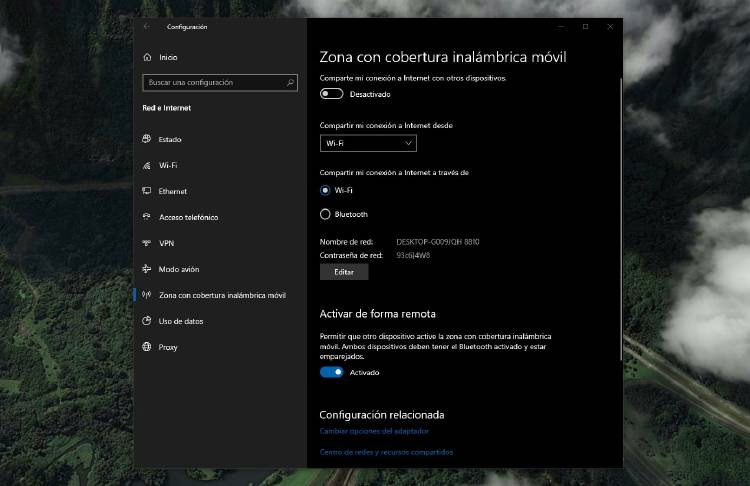 Cómo compartir WiFi Windows 10