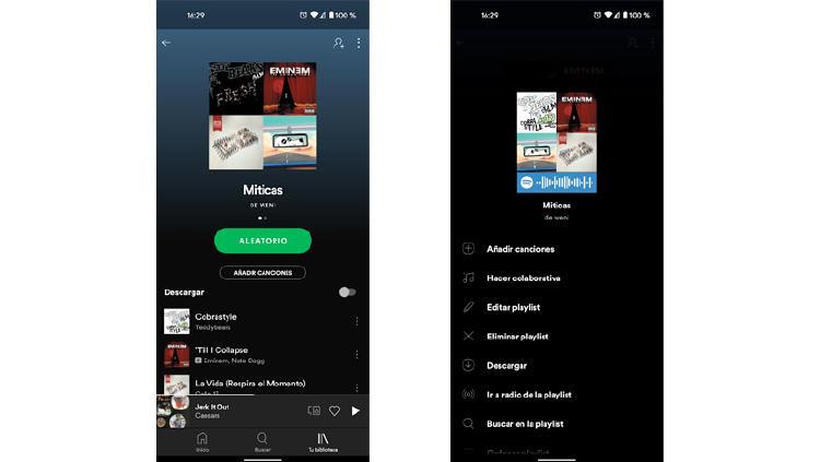 cambiar portada spotify playlist