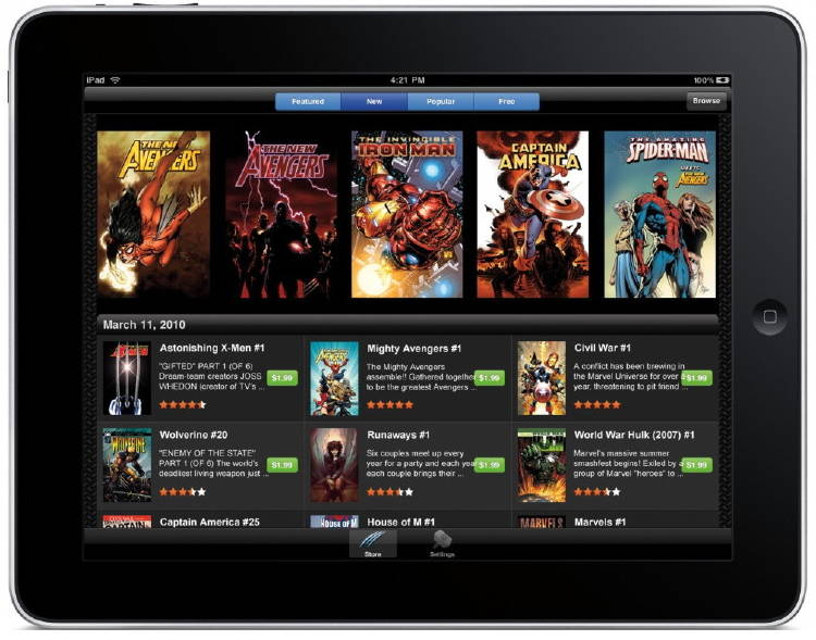 app para leer comics desde tablet