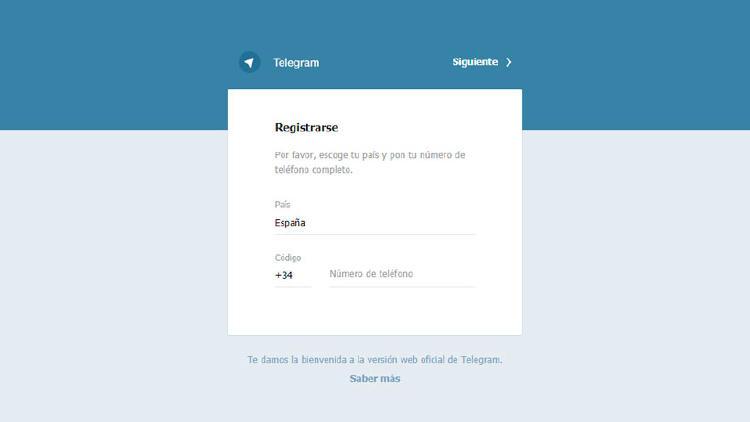inicio telegram web