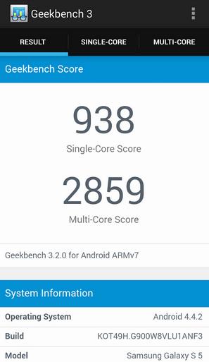 Aplicación para medir el rendimiento de un móvil | geekbench app