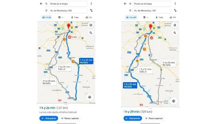 Trucos para dominar la navegación GPS de Google Maps