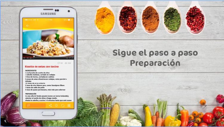 Pantallazo app Tasty