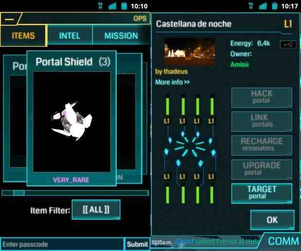 Captura de pantalla del juego Ingress