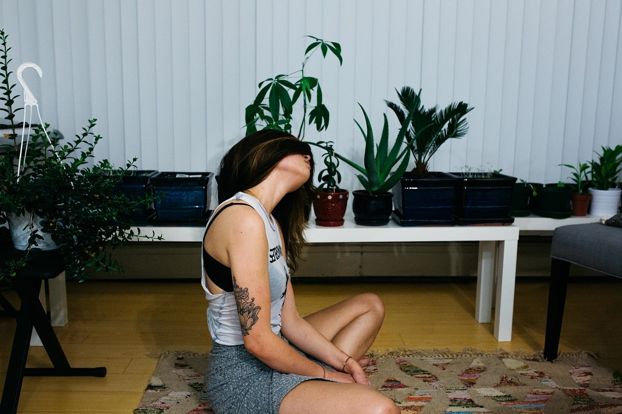 Mujer relajándose