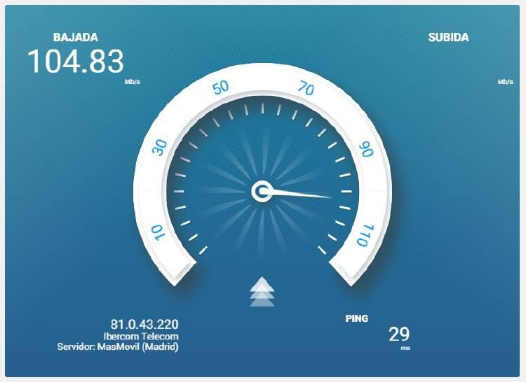 comprobar velocidad fibra optica