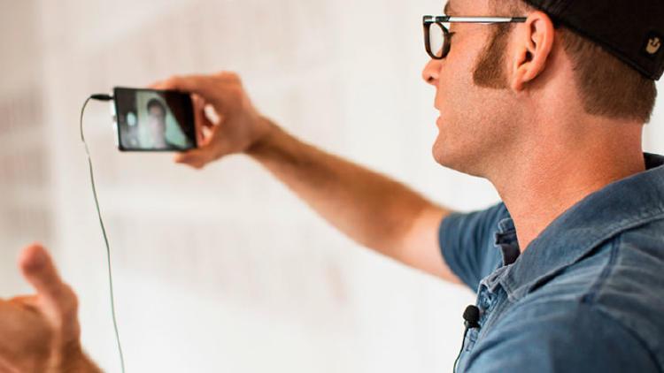 micrófono video selfies