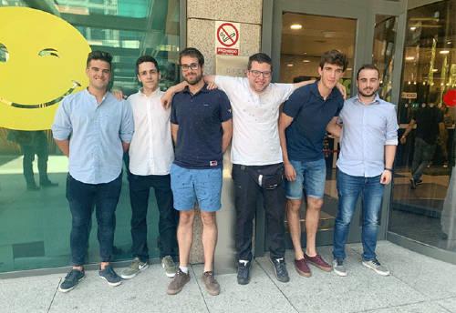 Becarios de la I Edición del programa de Cátedras en las oficinas de Grupo MASMOVIL.
