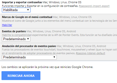 Importar contraseñas desde Chrome