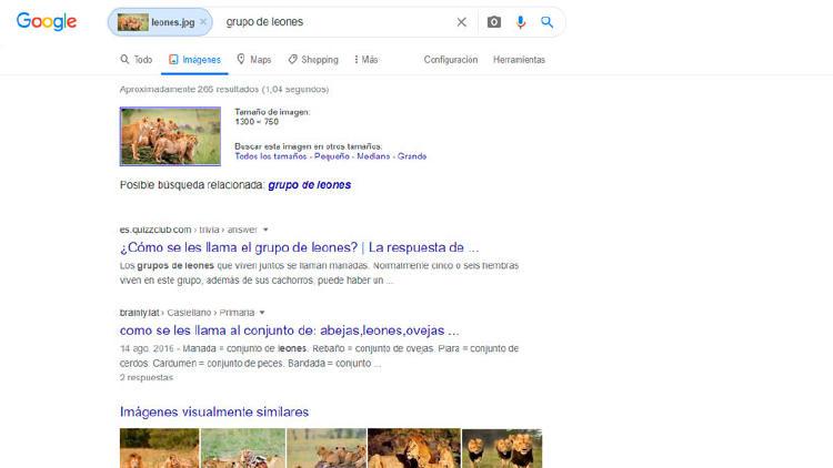 búsqueda inversa por imagen google