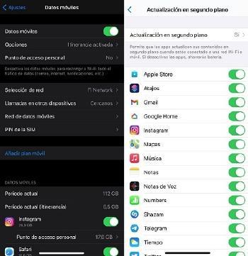 menos consumo de datos con iPhone