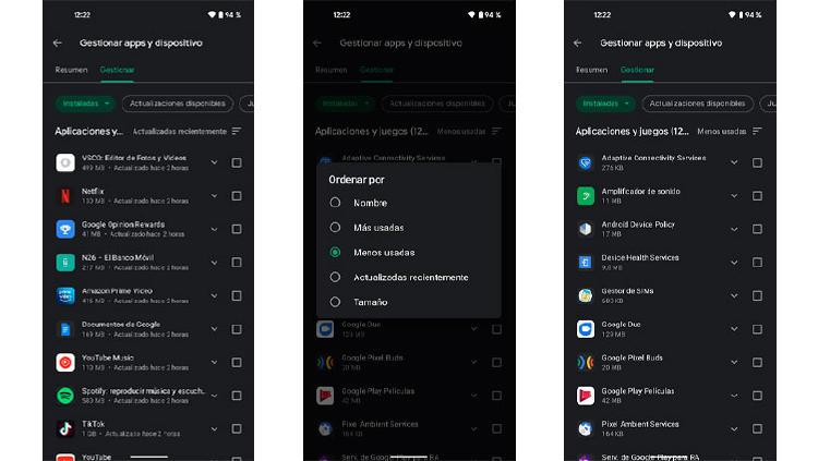 apps menos usadas movil android