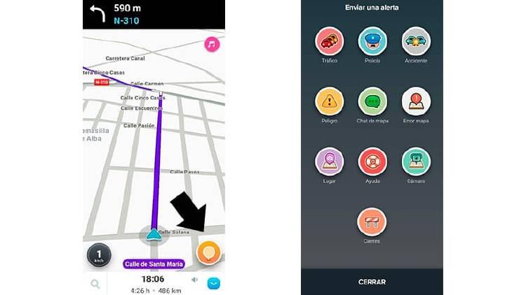 Cómo alertar de accidentes o problemas de tráfico con el móvil