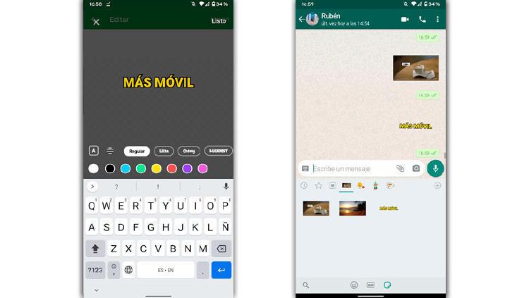 stickers movimiento whatsapp texto