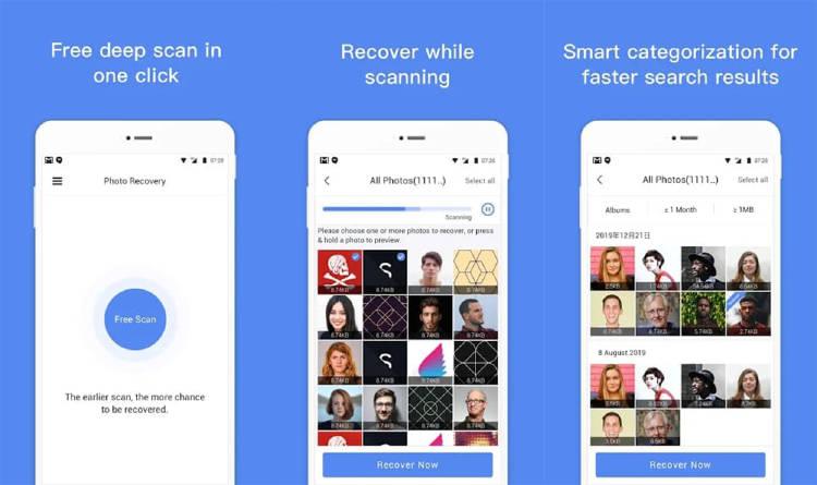 App para recuperar fotos borradas del móvil