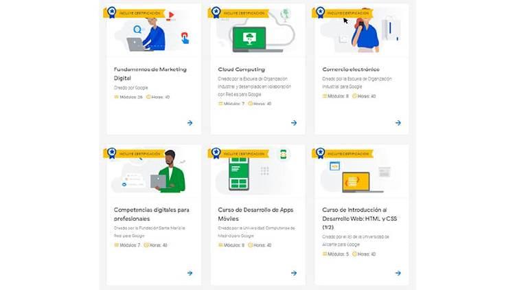 cursos online google