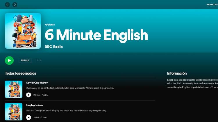podcast aprender ingles spotify