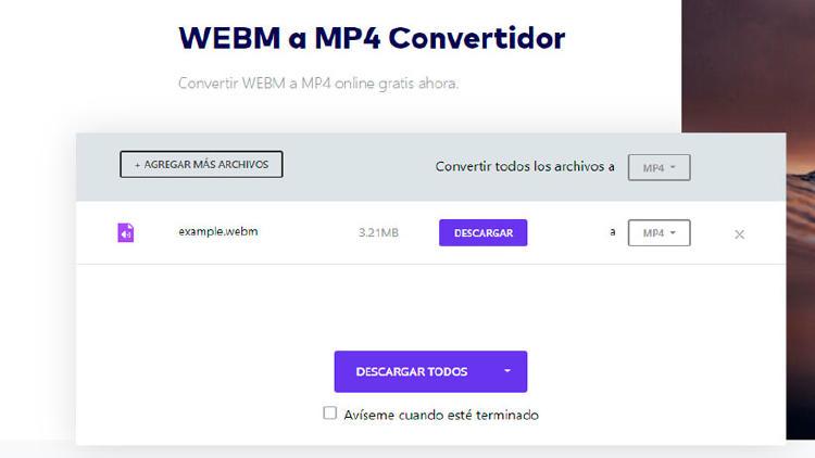 convertir webm a mp4