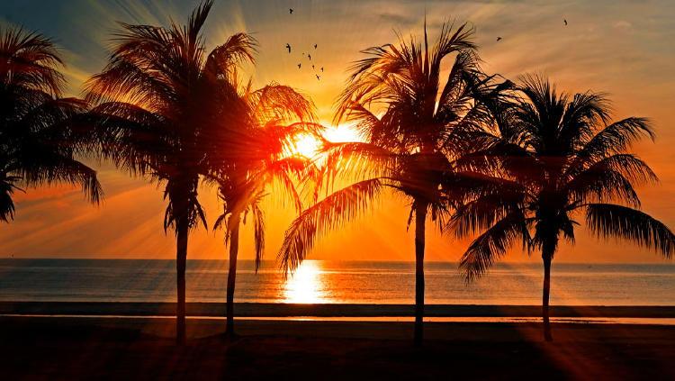 atardecer playa