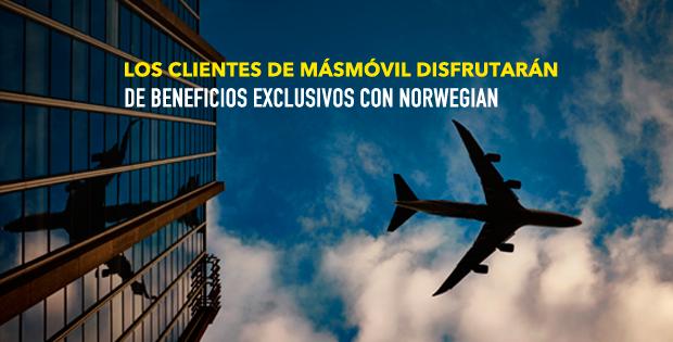 Los clientes de MÁSMÓVIL pueden disfrutar de beneficios exclusivos con Norwegian