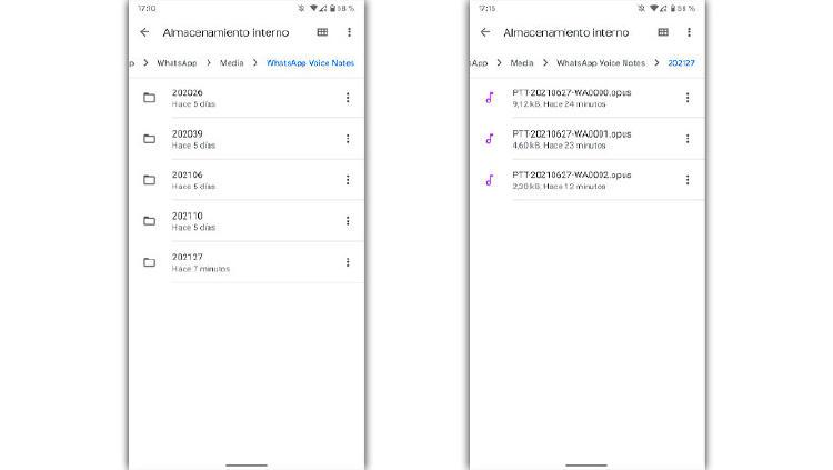 notas de voz audio whatsapp