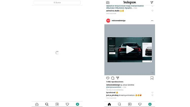 Instagram Lite: menos espacio y muchas similitudes