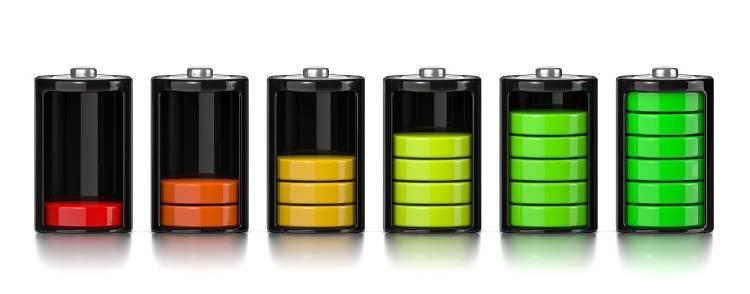 la batería de smartphone