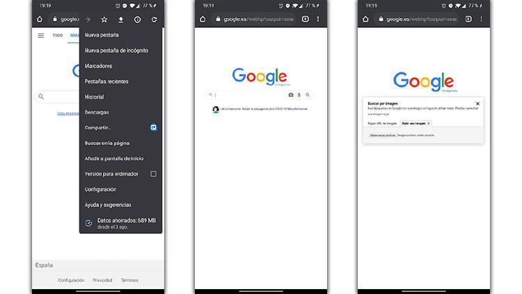 búsqueda inversa de imagen en Google desde el móvil