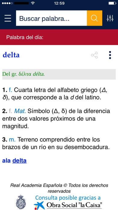 App diccionario RAE