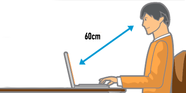 Aprender a sentarse bien frente al ordenador|Cómo cuidar la vista frente al ordenador