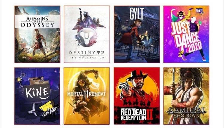 catalogo juegos Google Stadia