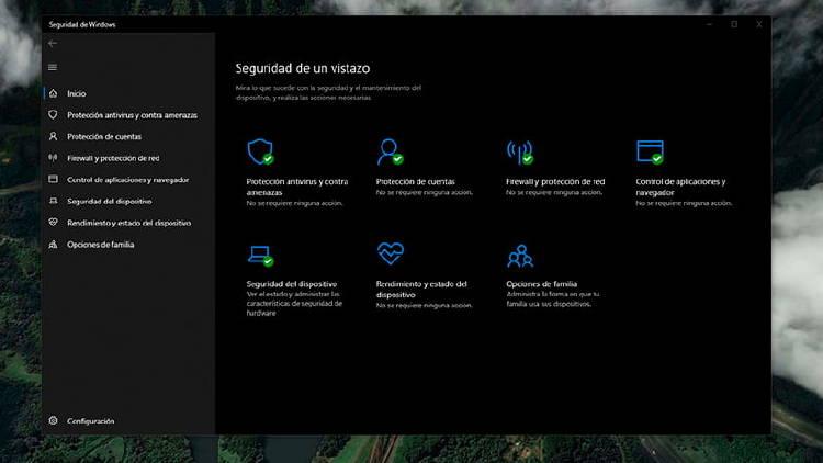 opciones seguridad windows