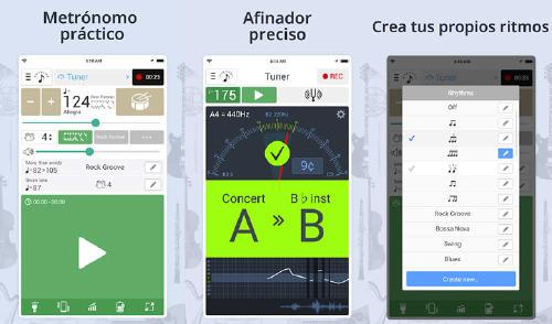 metrónomo en app móvil