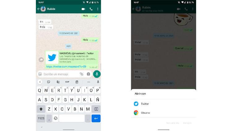 enlaces apps por defecto android