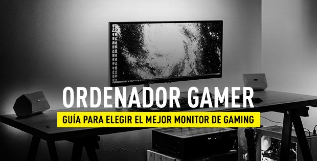 monitor de ordenador gaming para jugar a videojuegos.