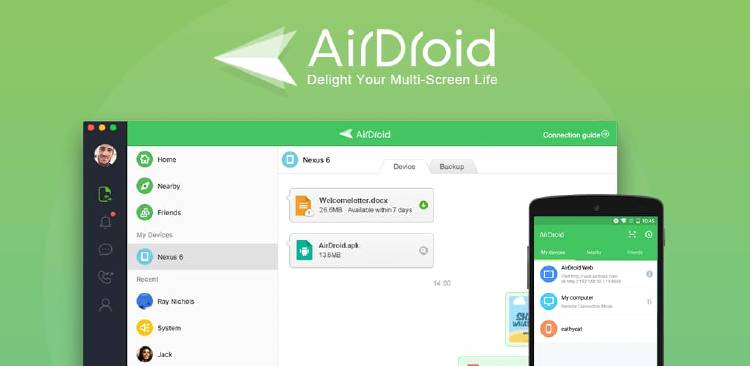 Airdroid, compartir archivos entre movil y pc