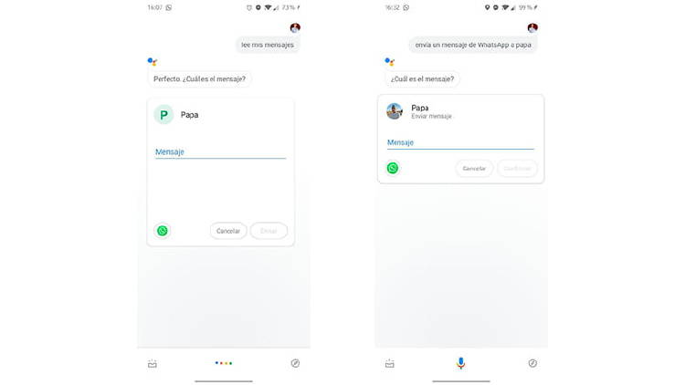 Controla WhatsApp con el asistente de Google, olvídate de escribir