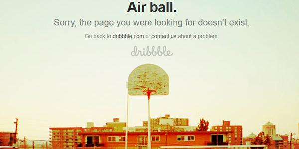 Los errores 404 más graciosos - Dribbble