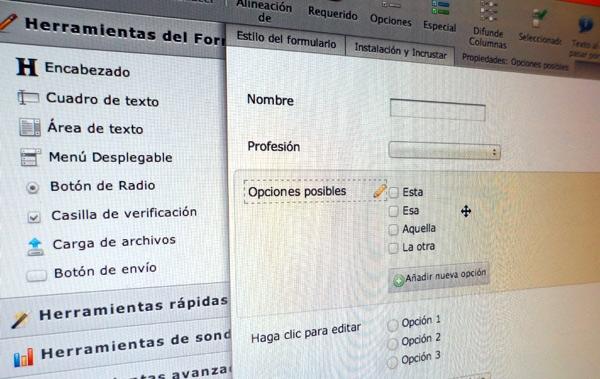Un formulario web / Foto: Alvy