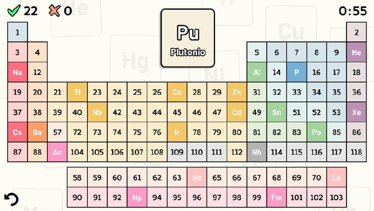 juego tabla periodica