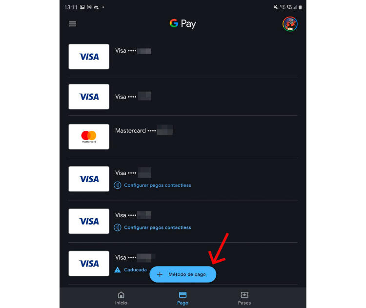 activar nueva tarjeta Google Pay
