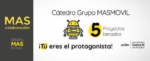 Grupo MASMOVIL becará 5 proyectos de investigación agrupados en dos grandes temáticas: Tres becas para el estudio de las infraestructuras del Data del Grupo MASMOVIL y dos becas para el estudio de Programas de innovación. E