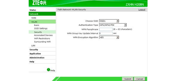 zte h208n firmware
