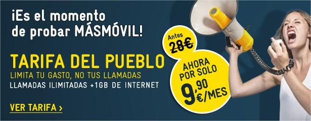 Promocion la tarifa del pueblo - MASMOVIL