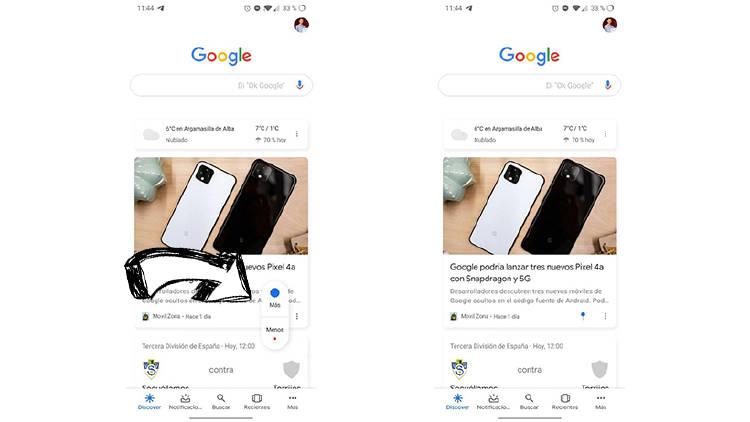 Cómo adaptar Google Discover con tus aficiones e intereses