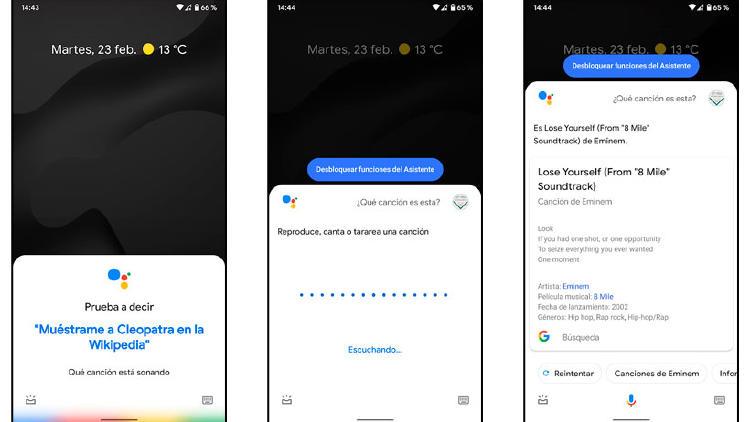 reconocer cancion android