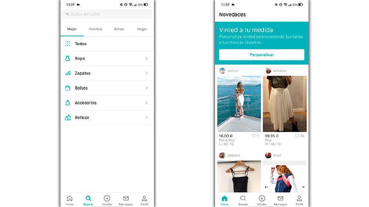 vinted vender ropa app