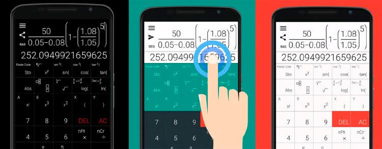 Calculadora científica móvil