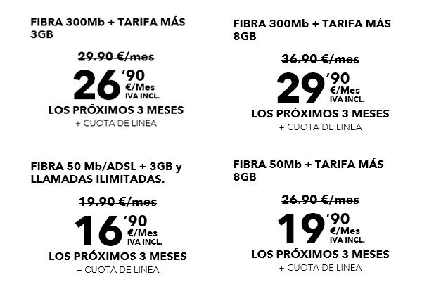 promociones en tarifas de internet y móvil